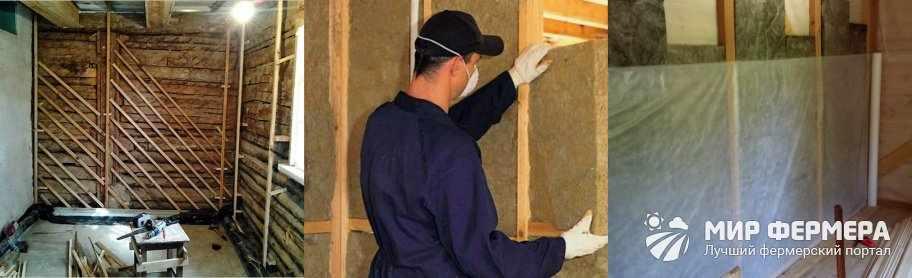 Как утеплить стены в сарае
