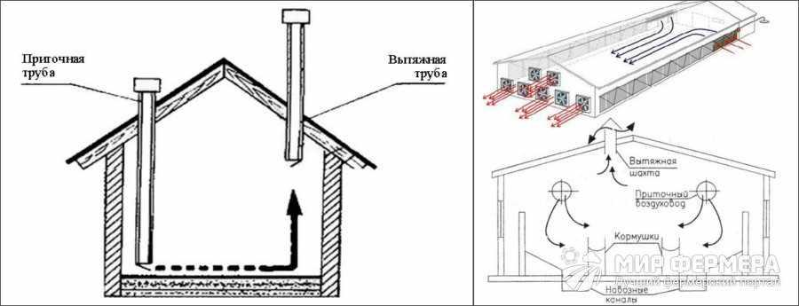 Вентиляция в сарае для коз
