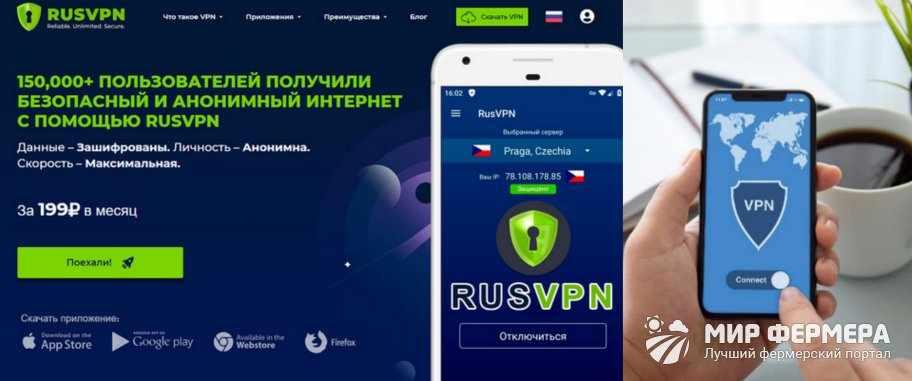 RusVPN функции