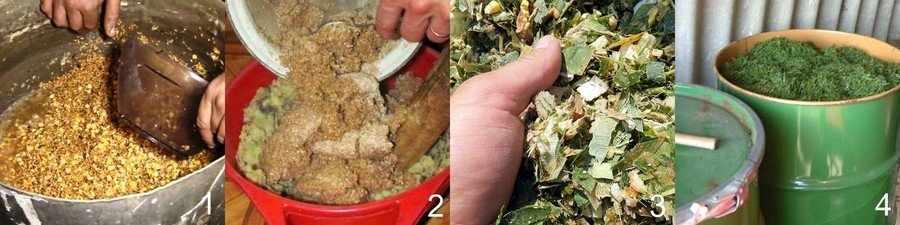 Подготовка кормов для кур