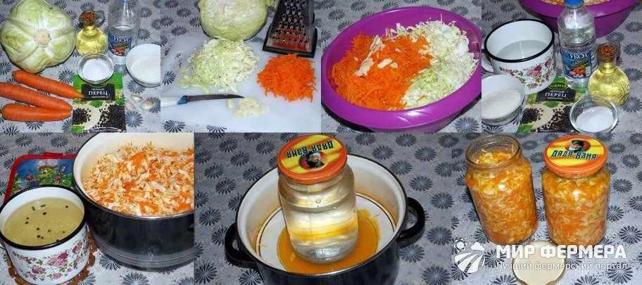 Быстрая засолка капусты рецепт