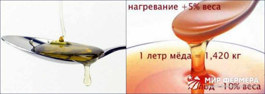 Сколько весит мед