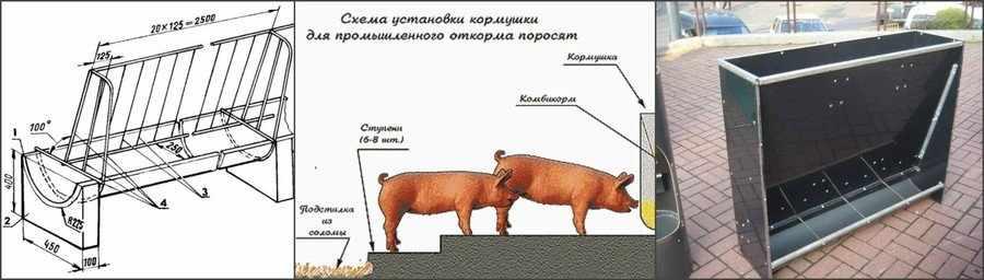 Кормушки для свиней своими руками