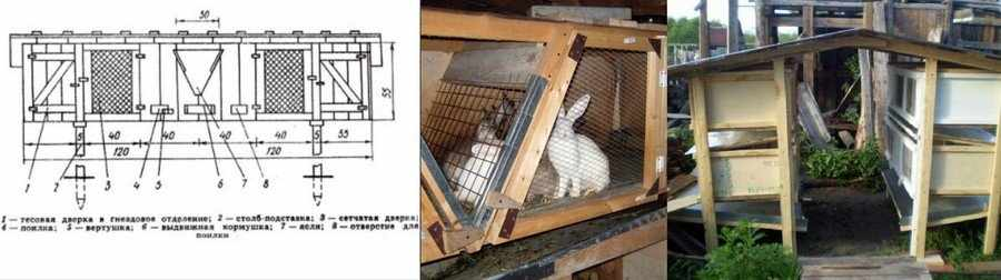 Клетка для кроликов чертеж