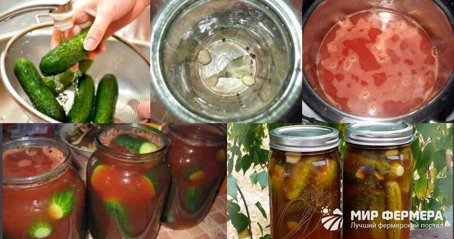 Огурцы с кетчупом чили рецепт