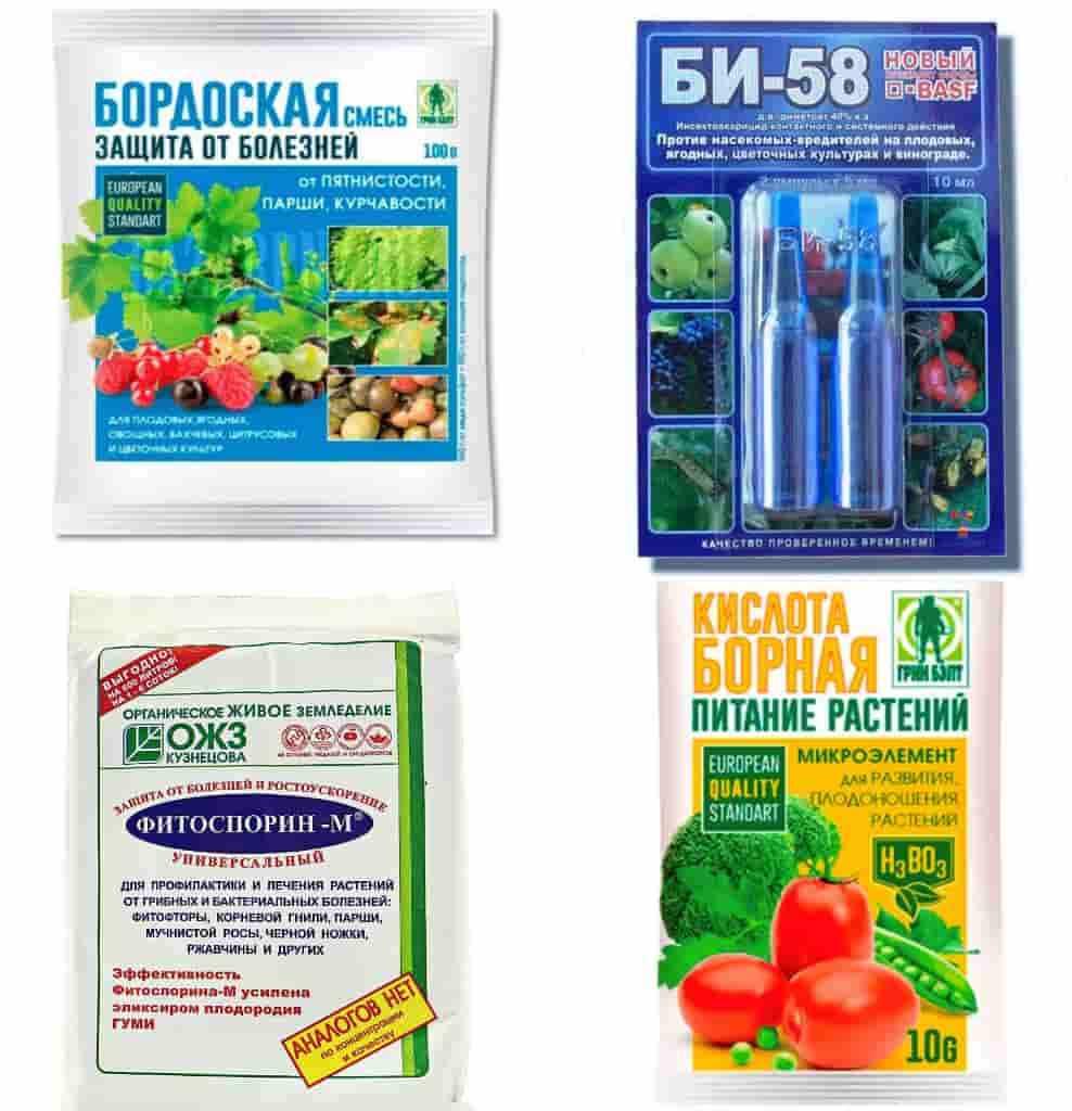 Препараты для обработки сада