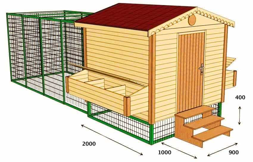 Как построить курятник размеры