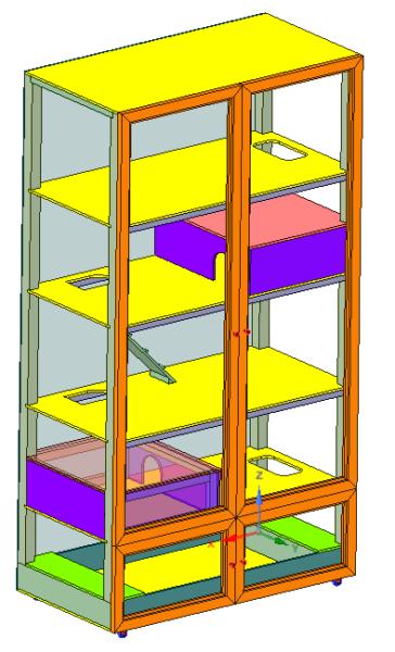 Конструкция клетки хорька