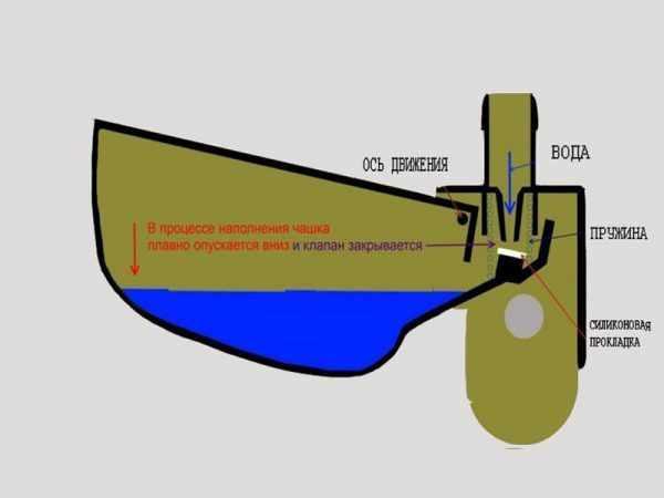 Принцип работы чашечной поилки