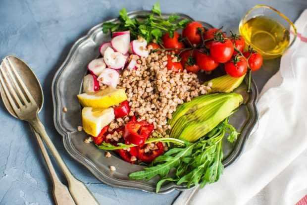 Меню диеты на гречке и овощах
