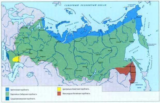 Ареал обитания в России