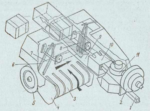 Конструкция подборщика ПТ 165