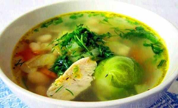 Суп из фазана с омлетом