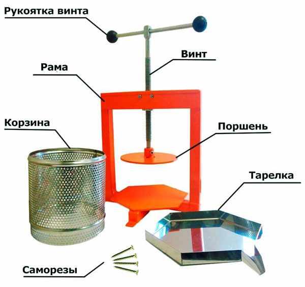 Схема винтового пресса