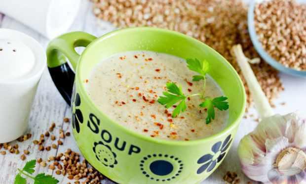 Пряный гречневый суп