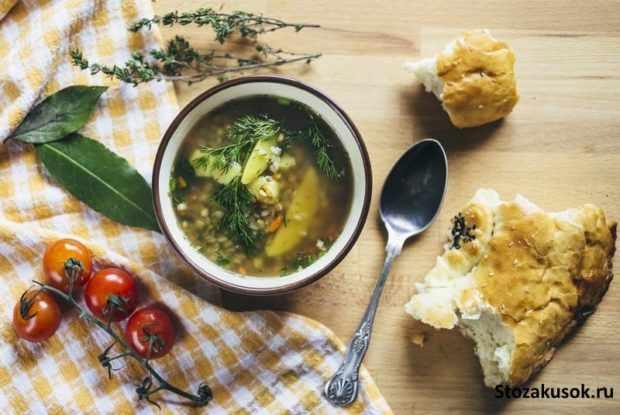ряный гречневый диетический суп