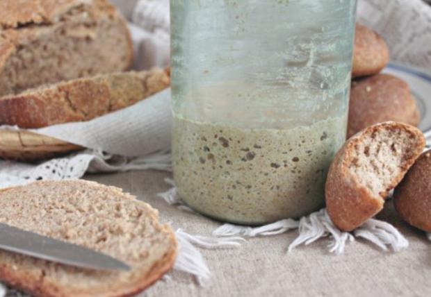 Приготовление закваски для ржаного хлеба