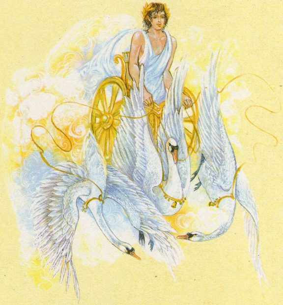 Апполон с лебедями в колеснице