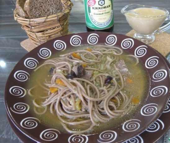 Суп с собой и рыбой