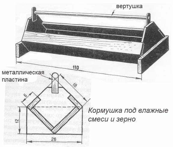 Конструкция кормушка для мешанных кормов