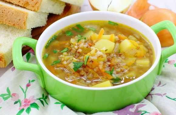 Овощной гречневый суп