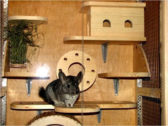 Домик из дерева в клетке