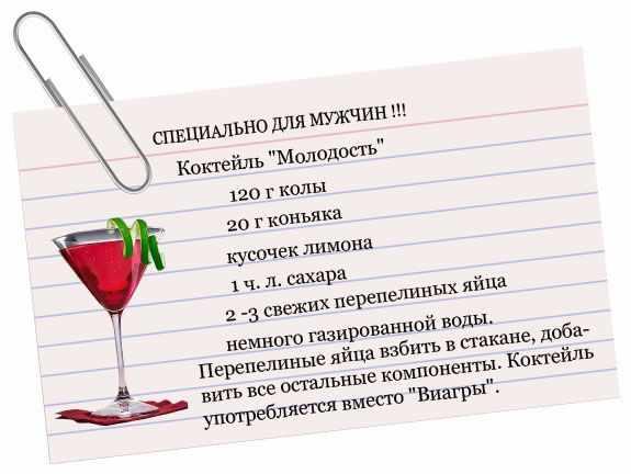 Рецепт коктейля для мужчин