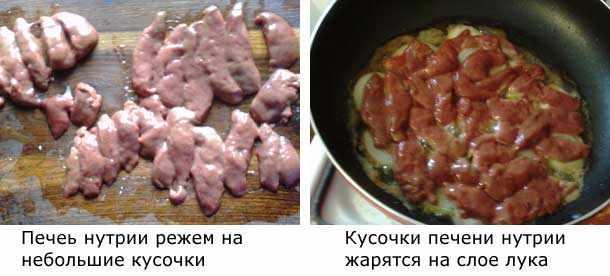 Печень нутрии - процесс готовки