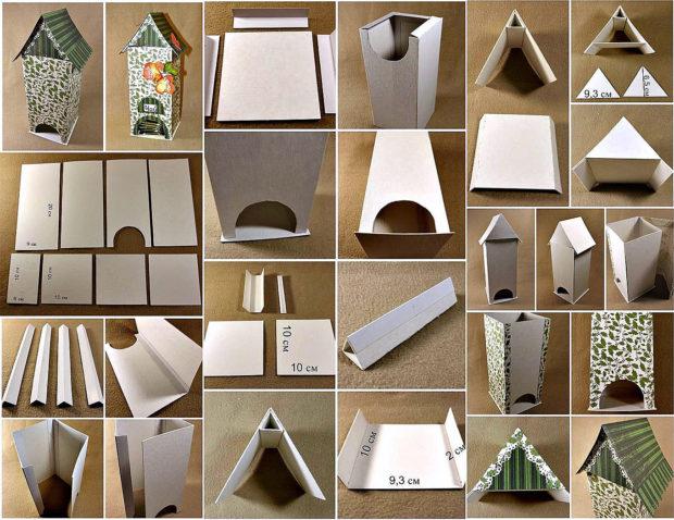 Игрушечный домик из картона