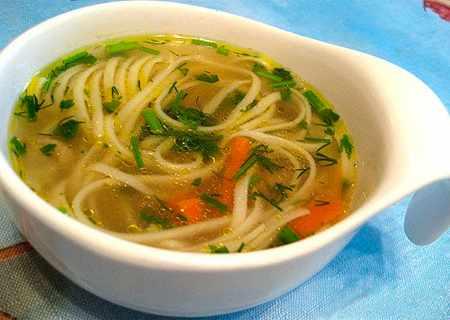 Суп лапша с вином из мяса фазана