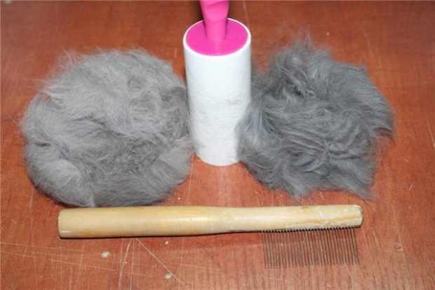 Вычесывание шерсти во время линьки