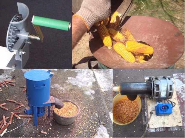 Виды лущилок для кукурузы