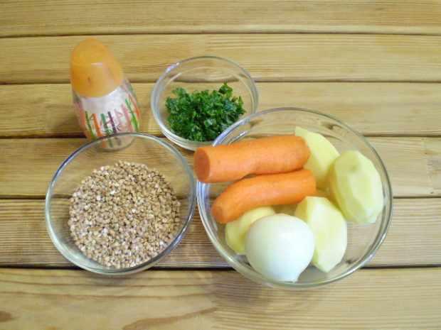 Набор продуктов для диетическог гречневого супа