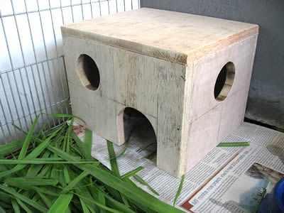 Домик для морской свинки из дерева