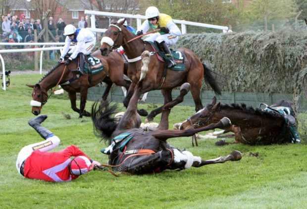 На барьерных скачках часто случаются падения