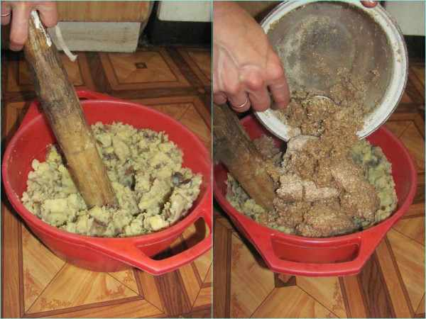 Приготовление мешанки на основе картофеля