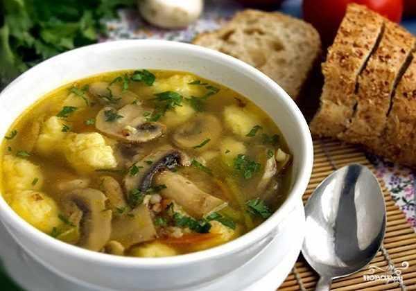 Грибной гречневый суп