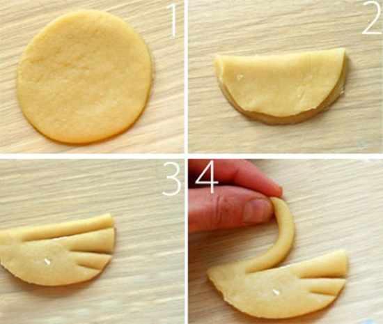 Печенье Лебеди - процесс изготовления