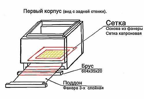 Первый корпус (вид с задней стенка)