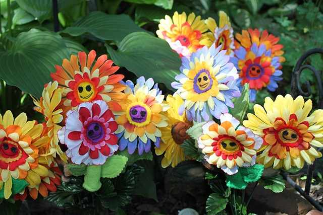 Цветы в садовых композициях