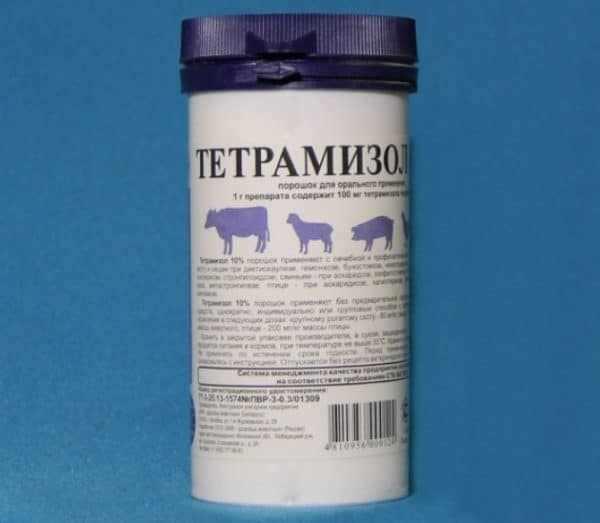 Тетрамизол в виде порошка