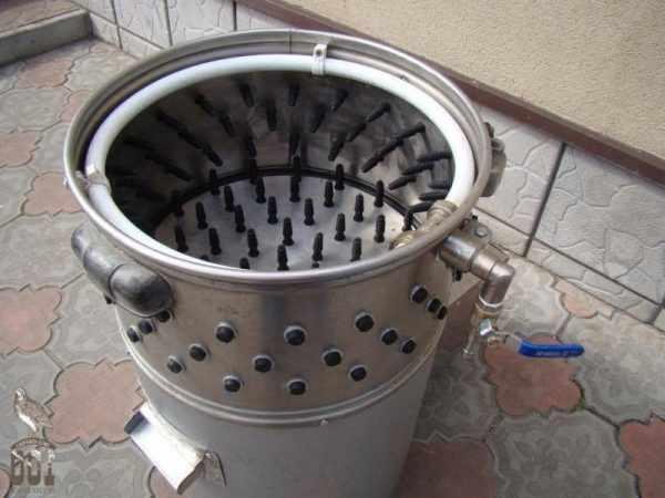 Перосъемная машина из стиральной машины